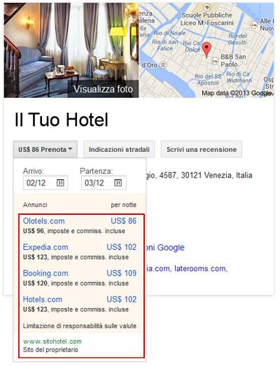 Google Hotel Finder - No Sito Ufficiale