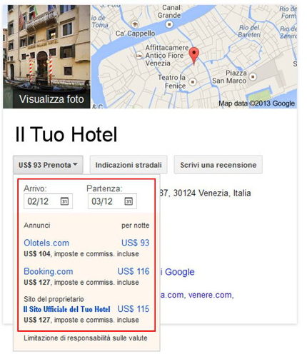 Google Hotel Finder - SitoUfficiale