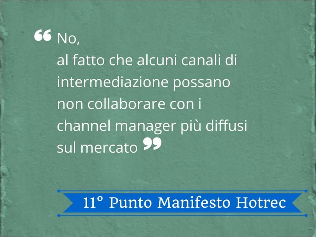 Analisi dell'undicesimo punto del Manifesto Hotrec - Nozio Business