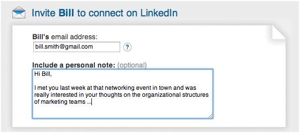 Messaggio LinkedIn