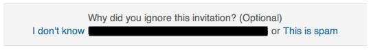 Ignore Invitation