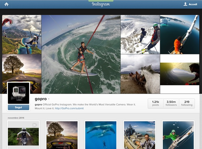 instagram go pro