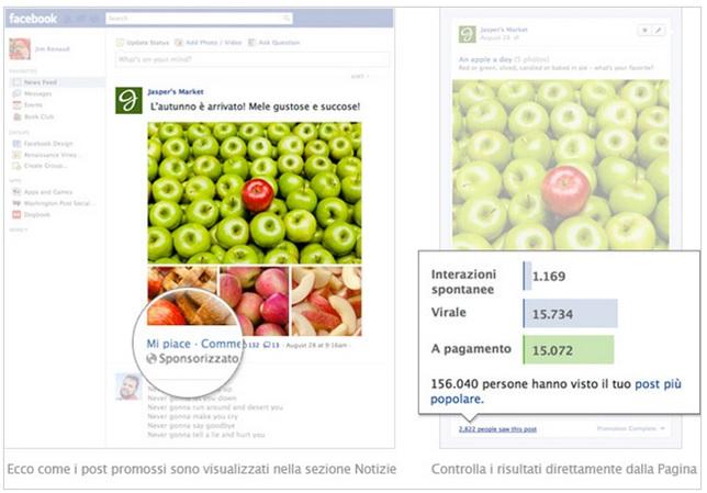 post sponsorizzato facebook