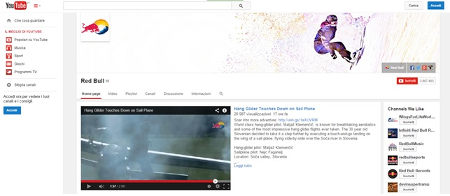 RedBull youtube