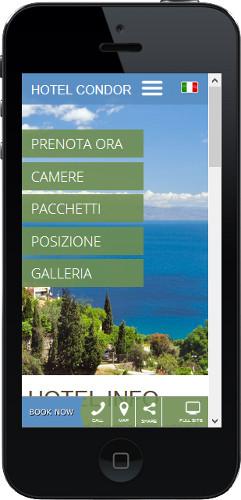 Hotel Condor - Sito web mobile