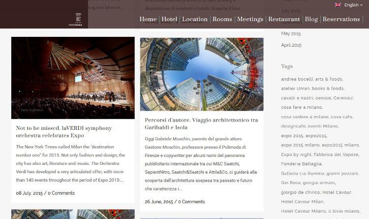 Hotel Cavour Milano - Corporate Blog
