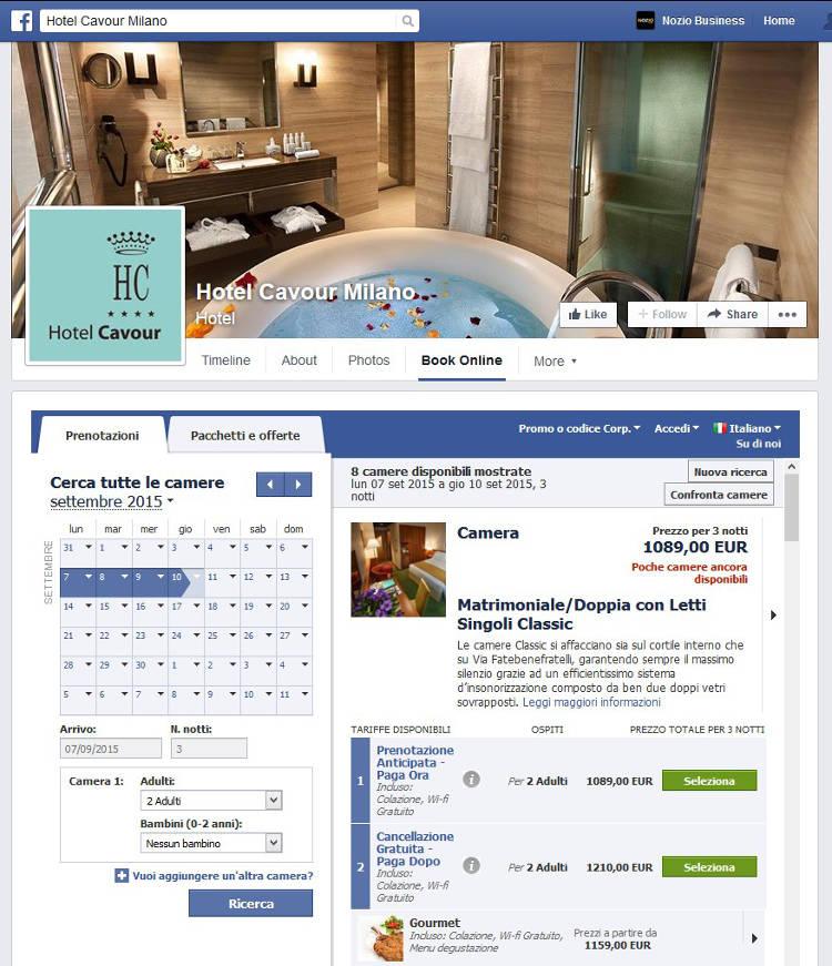 Hotel Cavour Milano - Facebol NOZIO v2