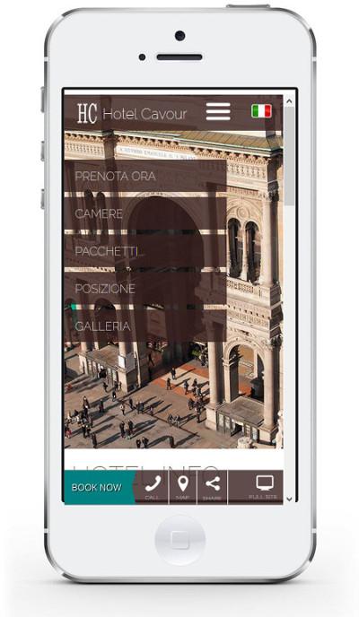 Hotel Cavour Milano - Sito in versione Mobile