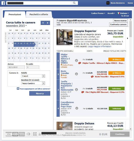 Hotel4 Venezia - Facebol