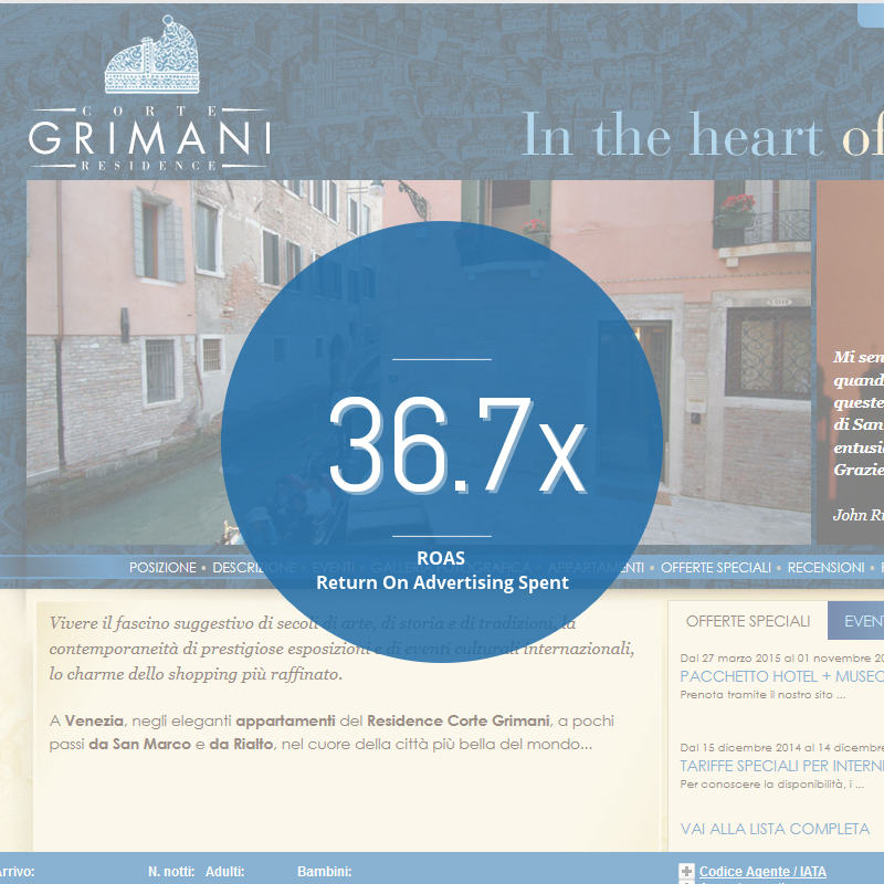 Visibilità su Google: Residence Corte Grimani - Venezia