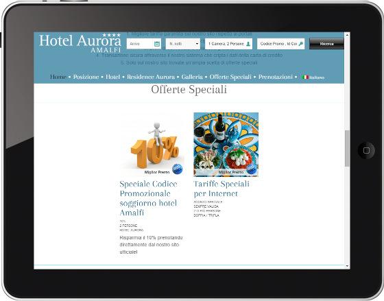 Hotel Aurora Amalfi - Offerte speciali