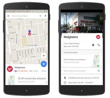 Walgreens Promoted Pins - Google Maps